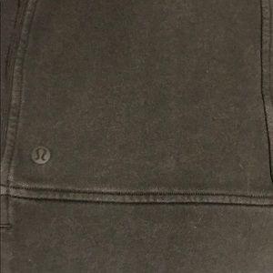 lululemon athletica Sweaters - Lululemon Dark Olive Green Sweatshirt - Crop Top